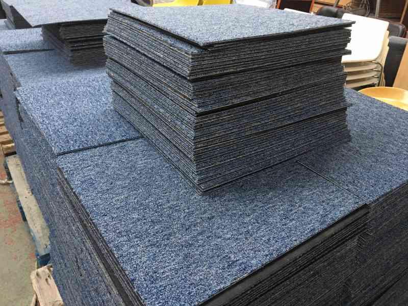 heuga blue carpet tiles